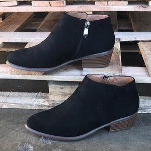 Shoes - Black Western Suede Bootie